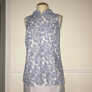 Dana Buchanan Sz S sleeveless button up top